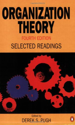 9780140250244: Organization Theory: Selected Readings:Fourth Edition (Penguin business)