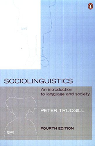 9780140289213: Sociolinguistics: An Introduction to Language and Society