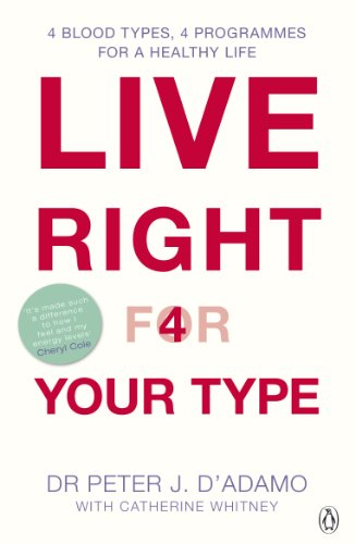 9780140297850: Live Right For Your Type: The Individualised Prescription for Maximizing Health, Metabolism, and Vitality in Every Stage of Your Life