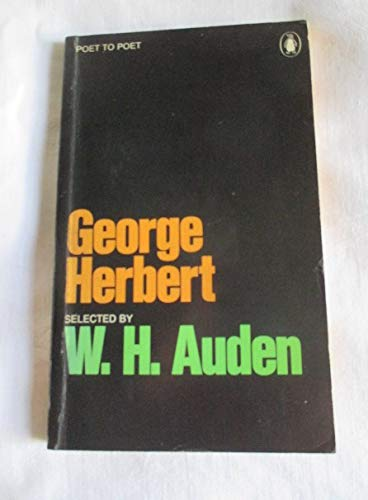 9780140421514: Herbert, The Selected Prose of George (Poet to poet)
