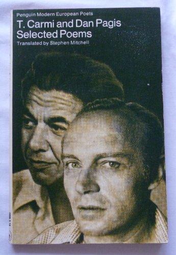 9780140421569: Selected Poems: T. Carmi & Dan Pagis (Modern European Poets)
