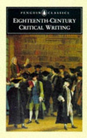 9780140433739: Augustan Critical Writing