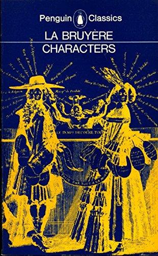 9780140442212: Characters (Classics)