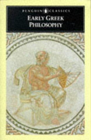 9780140444612: Early Greek Philosophy (Penguin Classics)