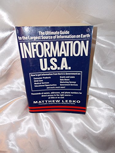 Information U.S.A (9780140465648) by Lesko, Matthew