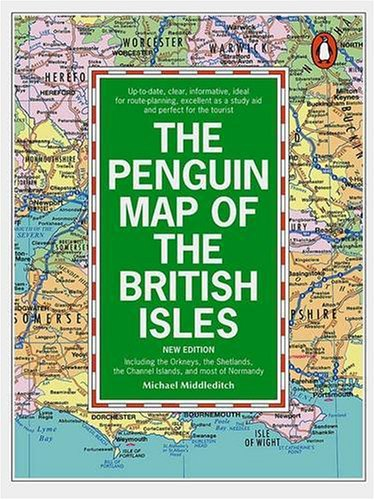 9780140469936: The Penguin Map of the British Isles: Including the Orkneys, the Shetlands, the Channel Isles and Most of Normandy