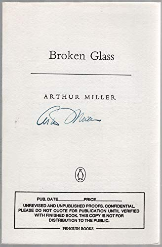 Broken Glass (Plays, Penguin): Arthur Miller