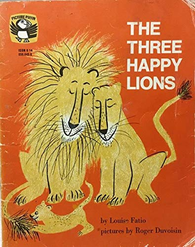 9780140500455: Three Happy Lions (Puffin Picture Books)