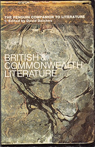 9780140510348: Penguin Companion to Literature: Britain and the Commonwealth v. 1 (Reference Books)