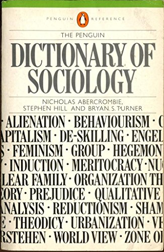 9780140511086: Dictionary of Sociology, The Penguin (Penguin reference books)