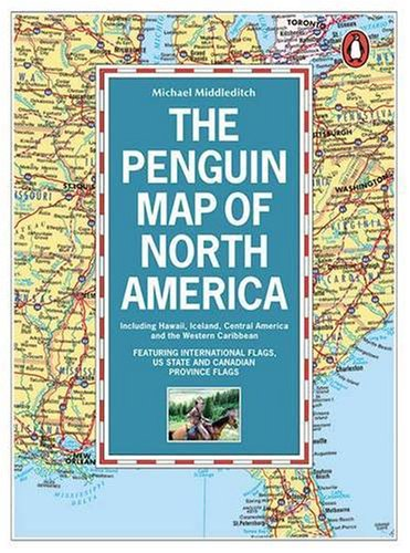 9780140511864: The Penguin Map of North America