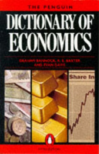 9780140512557: The Penguin Dictionary of Economics (Penguin reference)