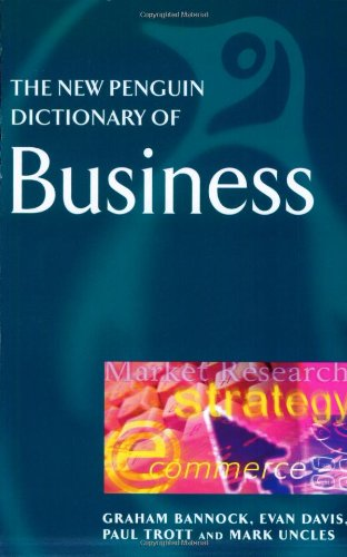 9780140513776: The New Penguin Dictionary of Business (Penguin Reference)