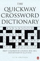 9780140514018: The Quickway Crossword Dictionary