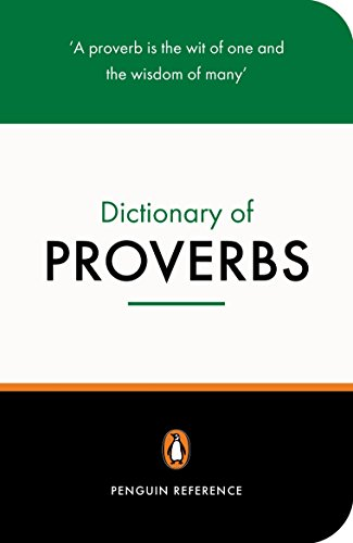 9780140514780: The Penguin Dictionary of Proverbs (Penguin Reference Books)