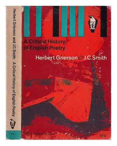 9780140550184: A Critical History of English Poetry