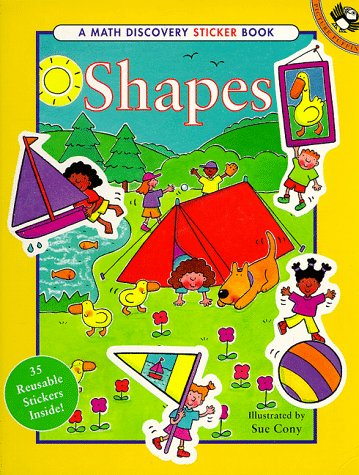 9780140563573: Shapes: 35 Reusable Stickers (A Math Discovery Sticker Book)