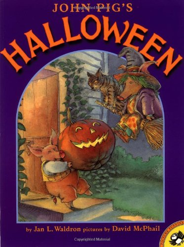 John Pig's Halloween (Picture Puffins): Jan Waldron; Illustrator-David