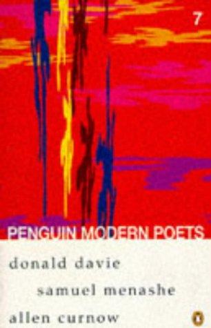 9780140587449: Penguin Modern Poets: Donald Davie, Samuel Menashe, Allen Curnow Bk. 7
