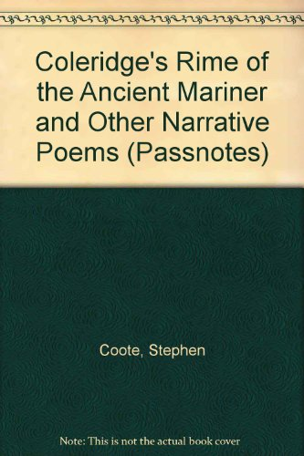 the use of glosses in the interpretation of coleridges rime of the ancient mariner Boyd's dante, coleridge's ancient mariner, and the pattern of infernal influence the poet: an interpretation of the rime of the ancient mariner according.