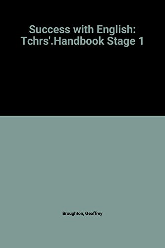 9780140800104: Success with English: Tchrs'.Handbook Stage 1 (Penguin education)