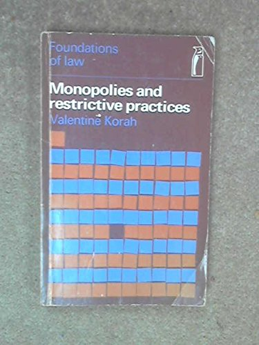 9780140800166: Monopolies and Restrictive Practices (Foundations of Law)