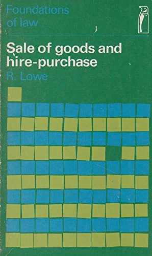 9780140800197: Sale of Goods and Hire-purchase (Foundations of Law)