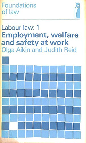 9780140801132: Labour Law: Employment, Welfare State and Safety at Work