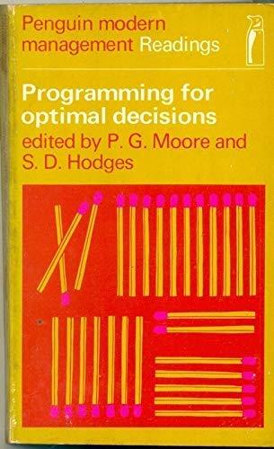 9780140801279: Programming for Optimal Decisions (Modern Management Readings)