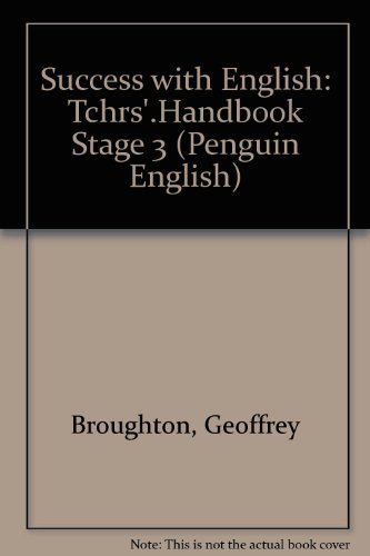 9780140801811: Success with English: Tchrs'.Handbook Stage 3 (Penguin English)
