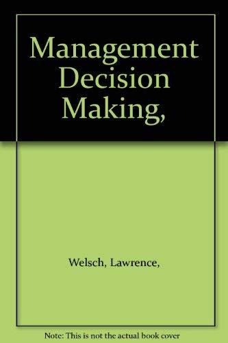 Management Decision Making (Modern Management Readings): Richard M. Cyert,