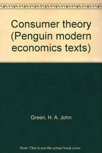 9780140802610: Consumer Theory