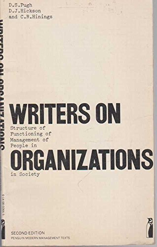 9780140802665: Writers on Organizations: An Introduction (Modern Management Readings)