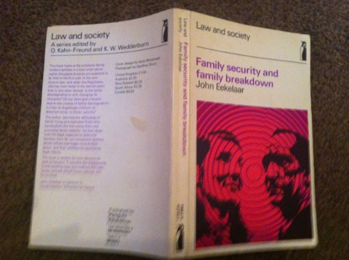 9780140802924: Family Security and Family Breakdown (Penguin education)