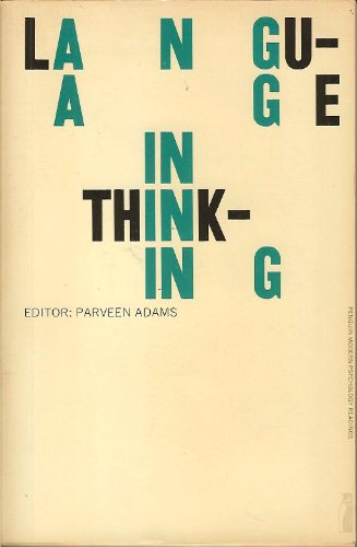 9780140805314: Language in Thinking: Selected Readings (Modern Psychology S.)