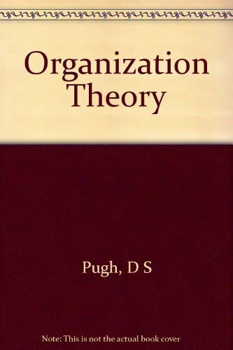 9780140806274: Organization Theory (Pelican)