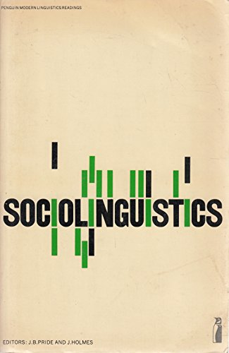9780140806656: Sociolinguistics: Selected Readings (Penguin modern linguistics reading)