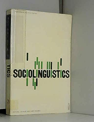 Sociolinguistics: Selected Readings (Penguin modern linguistics reading)