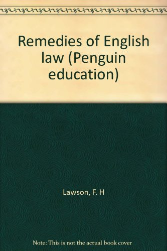 9780140806939: Remedies of English law (Penguin education)