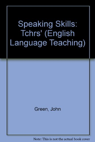 9780140808469: Speaking Skills: Tchrs' (English Language Teaching)