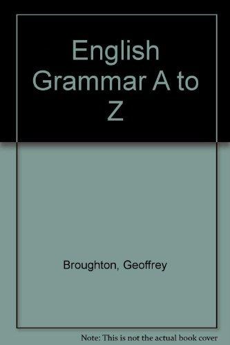 9780140808629: English Grammar A to Z
