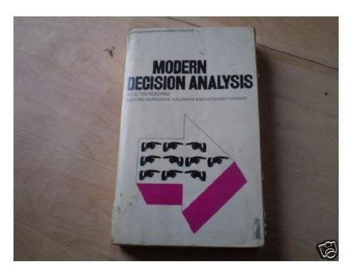 9780140809251: Modern Decision Analysis: Selected Readings (Modern Management Readings)