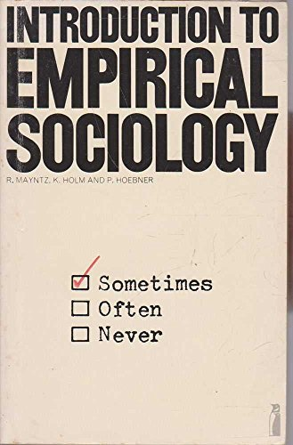 9780140809961: Introduction to Empirical Sociology (Modern Sociological Readings)