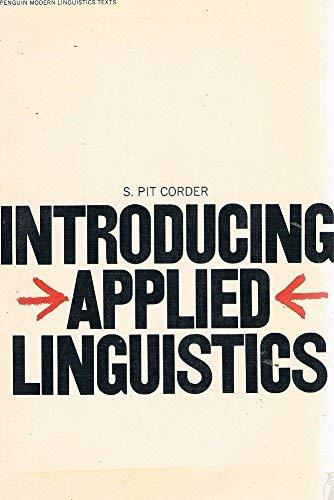 9780140810516: Introducing Applied Linguistics (Penguin modern linguistics texts)