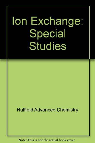 9780140826555: Ion Exchange: Ion exchange: Special Studies