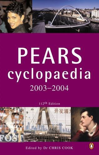9780141010786: 2003 To 2004 Pears Cyclopaedia 112th Edition