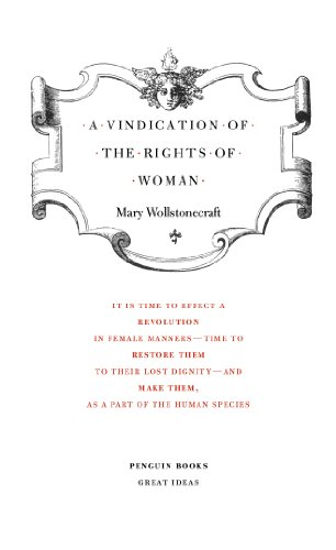 9780141018911: A Vindication of the Rights of Woman (Penguin Great Ideas)