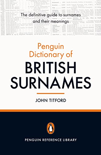 9780141023205: The Penguin Dictionary of British Surnames