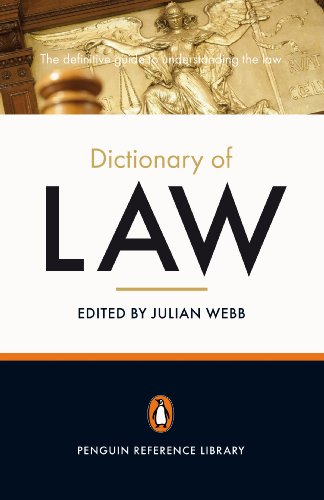 9780141027272: The Penguin Dictionary of Law (Penguin Reference)