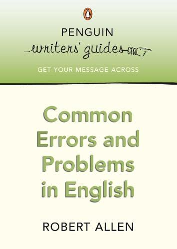 9780141028217: Common Errors and Problems in English (Penguin Writers Guides)
